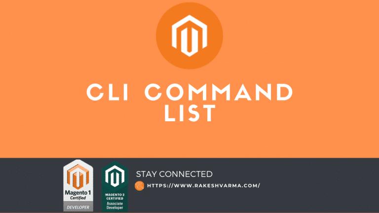 magento 2 CLI command